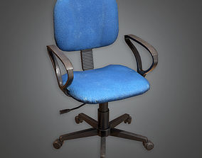 3D model Office Chair HPL - PBR Game Ready
