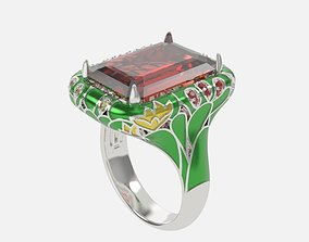 3D print model ring with enamel