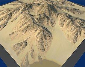 3D model Lowpoly Mountain x3