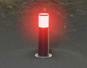 Dark Red Light-Column -9- Street-Light 9 3D asset