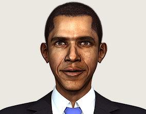 3D asset Barack Obama