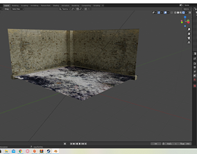 3D model The old empty place