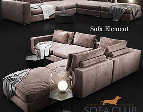 3D model Sofa Element Sofa Club