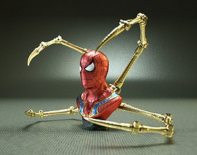 3D printable model IRON SPIDER BUST - With Spider Arms
