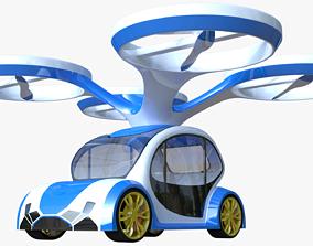 Hybrid drone car 3D