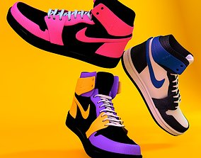 Nike high tops retro 3D