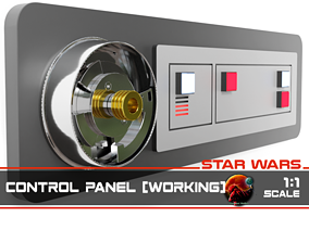 3D printable model Star Wars Control panel working