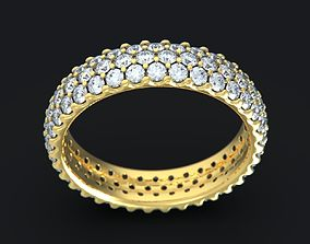round Pave Ring 3D print model