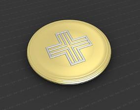 cross christian 3D print model Cross Medallion