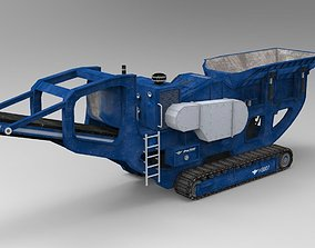 Parker HS907 crawler rotary crusher 3D asset