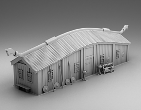 3D print model The Vikings barn