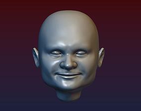 Man Head 5 - Bald Head 3D print model