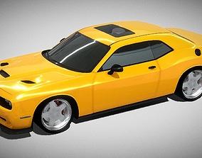 Dodge Challenger SRT Hellcat 3D model realtime