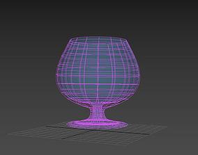 transparent brandy glass 3D model