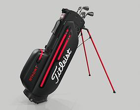 3D Titleist Black Plus StaDry Golf Bag Players 4