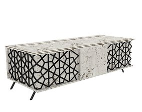 3D weathered wooden table
