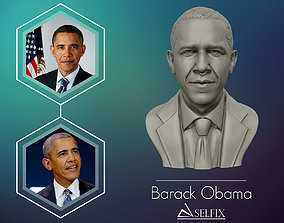 Barack Obama Bust ready to 3D print