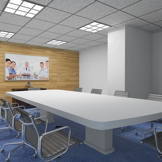 3D Architectural Rendering of Conference Room Houston, Texas