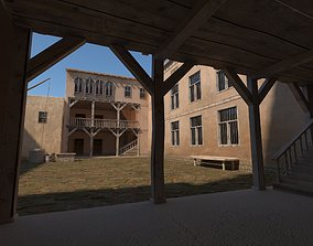Medieval Courtyard House 3D