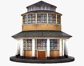 Round Building 3D asset