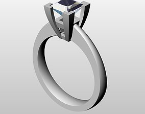Solitaire Diamond Ring 3D print model ring