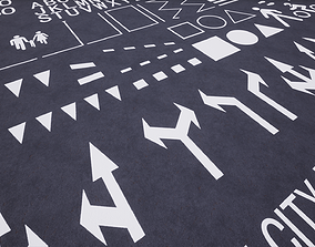 Procedural Road Markings for UE4 3D model