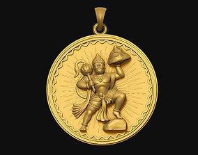 Hanuman Pendant art 3D print model