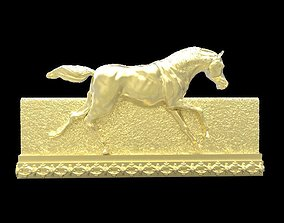 Galloping Horse in reliefs 3D print model