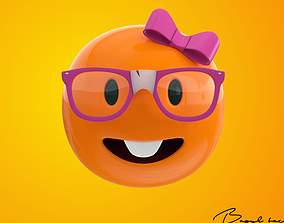 Emoji Female Nerd 3D model