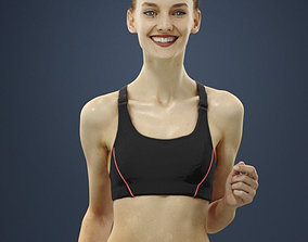 Barbara Attractive Sports Woman Running 3D model