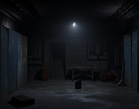 Basement Environment 3D asset low-poly