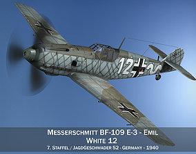 3D Messerschmitt - BF-109 E - White 12
