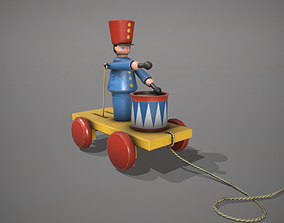 Blue Drummer Boy Toy 3D model