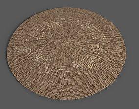 3D model Jute Round Rug