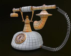 3D model style Retro Telephone