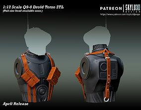 Q9-0 Driod Torso Section - 3D print ready STL
