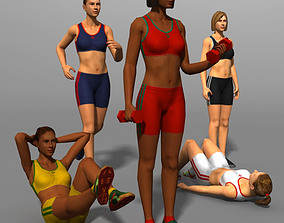 WOMAN 02b 3D model