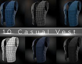 3D model 10 Casual Vest Styles