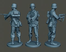 German soldier ww2 Shoot middle 3D print model
