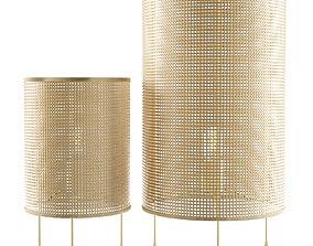 3D Zarahome large rattan lamp