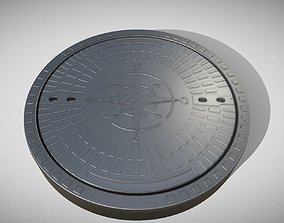 Sewer Cover 4 High-Poly 3D model