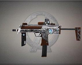 3D asset Mp7a1-silver-week Gun-weapon model