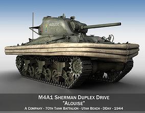 M4A1 Sherman - Duplex Drive - Alouise 3D model