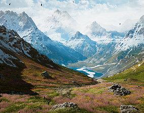 Alpine Lake Environment - Unity 2017-18-19 3D model