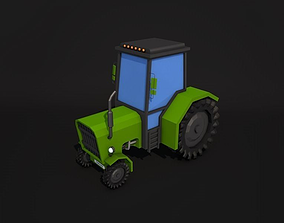 3D model Low Poly Tractor
