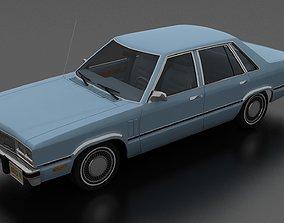 3D model Zephyr 4dr sedan 1978