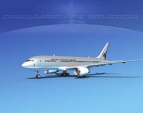 3D Boeing 787-8 Qatar
