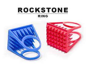 3D print model RockStone ring - Size 8