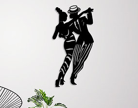 PROM DANCING WALL ART 3D print model