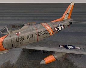North American F-86H Sabre Hog 3D